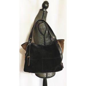 Tignanello Black Color-block Shopper Side Zip